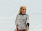 Isabel Lucas Knight Of Cups Set Candids In Malibu