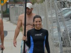 Eva Longoria Out And About Paddle Board Candids In Malibu