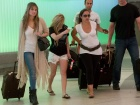 Avril Lavigne LAX Airport Arrival Candids In Los Angeles
