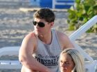 Jennifer Ellison Bikini Beach Candids In Spain