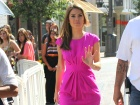 Maria Menounos Extra Set Candids At The Grove In Los Angeles