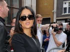 Salma Hayek BBC Radio One Studio Candids In London