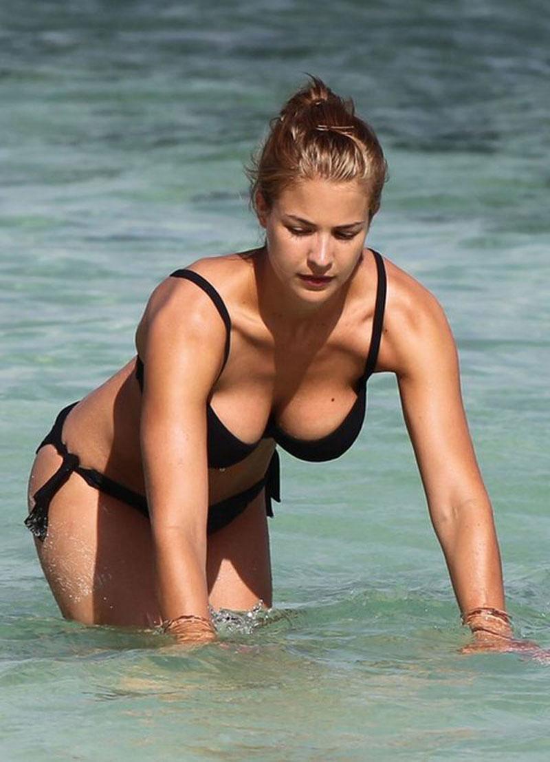 Gemma Atkinson in Bikini on the beach in Tenerife