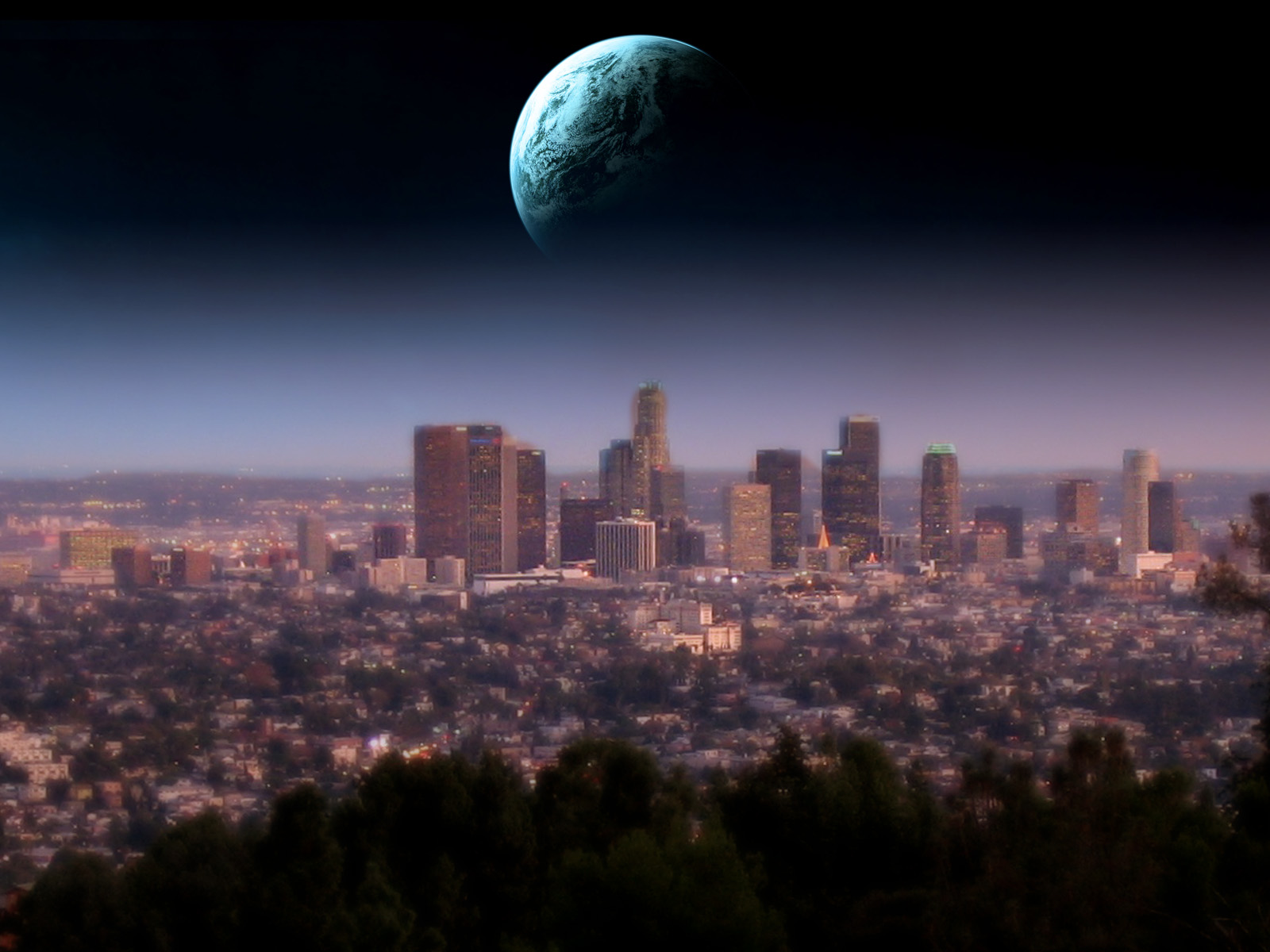 los angeles skyline 002 | free desktop wallpapers for widescreen, hd