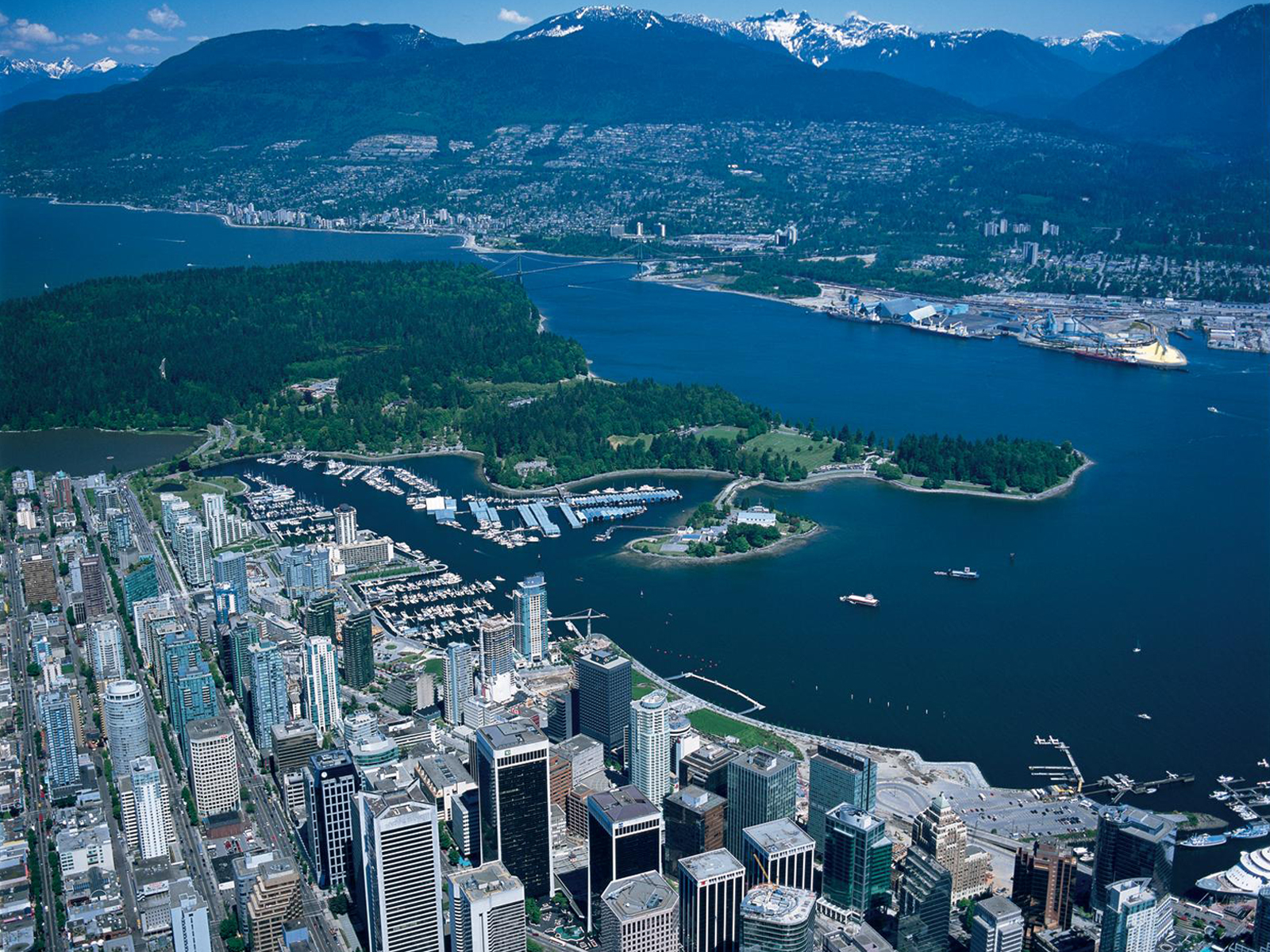 vancouver aerial free desktop wallpapers for widescreen hd and mobile