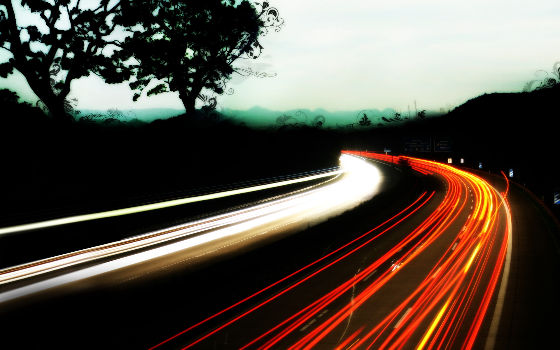 Traffic Road At Night | Free Desktop Wallpapers for Widescreen, HD ... for Traffic Light On Road At Night  300lyp