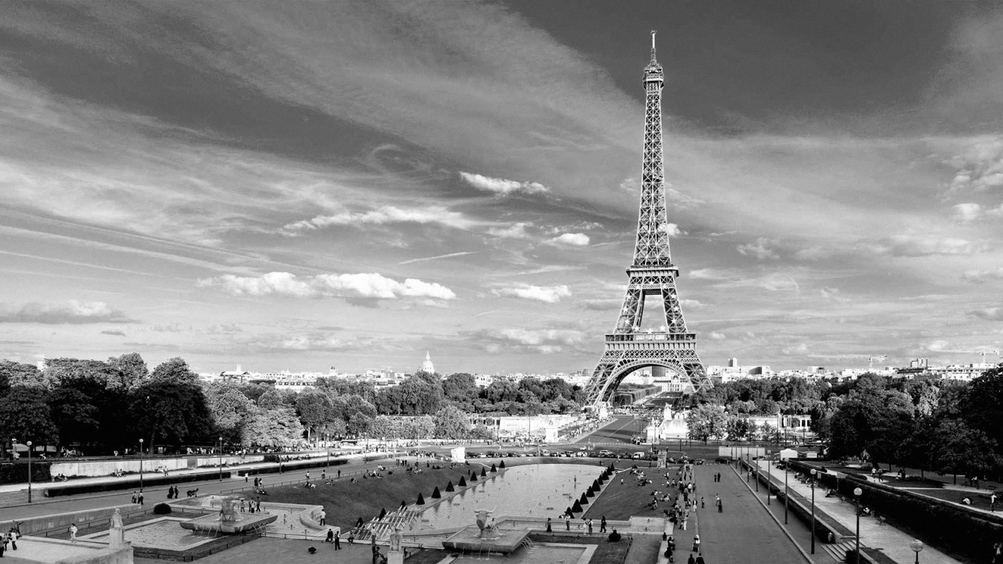 Eiffel Tower Paris Wallpaper Black And White Eiffel Tower Paris Black And