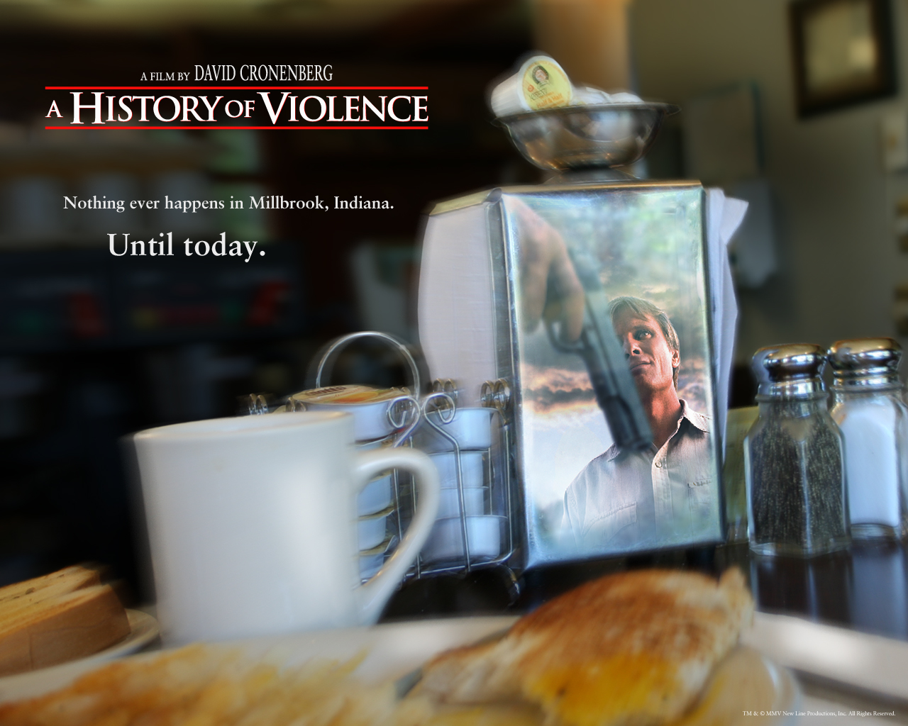 history of violence Tom stall is living a happy and quiet life with his lawyer wife and their two children in the small town of millbrook, indiana, but one night their idyllic existence is shattered when tom foils a vicious attempted robbery in his diner sensing danger, he takes action and saves his customers and friends in the self-defense killings of two-sought-after.