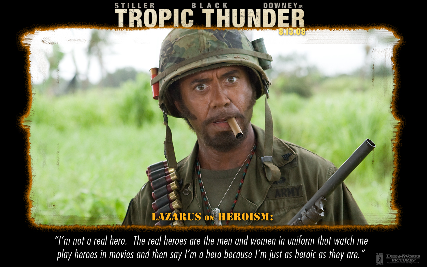 Tropic thunder cody quotes