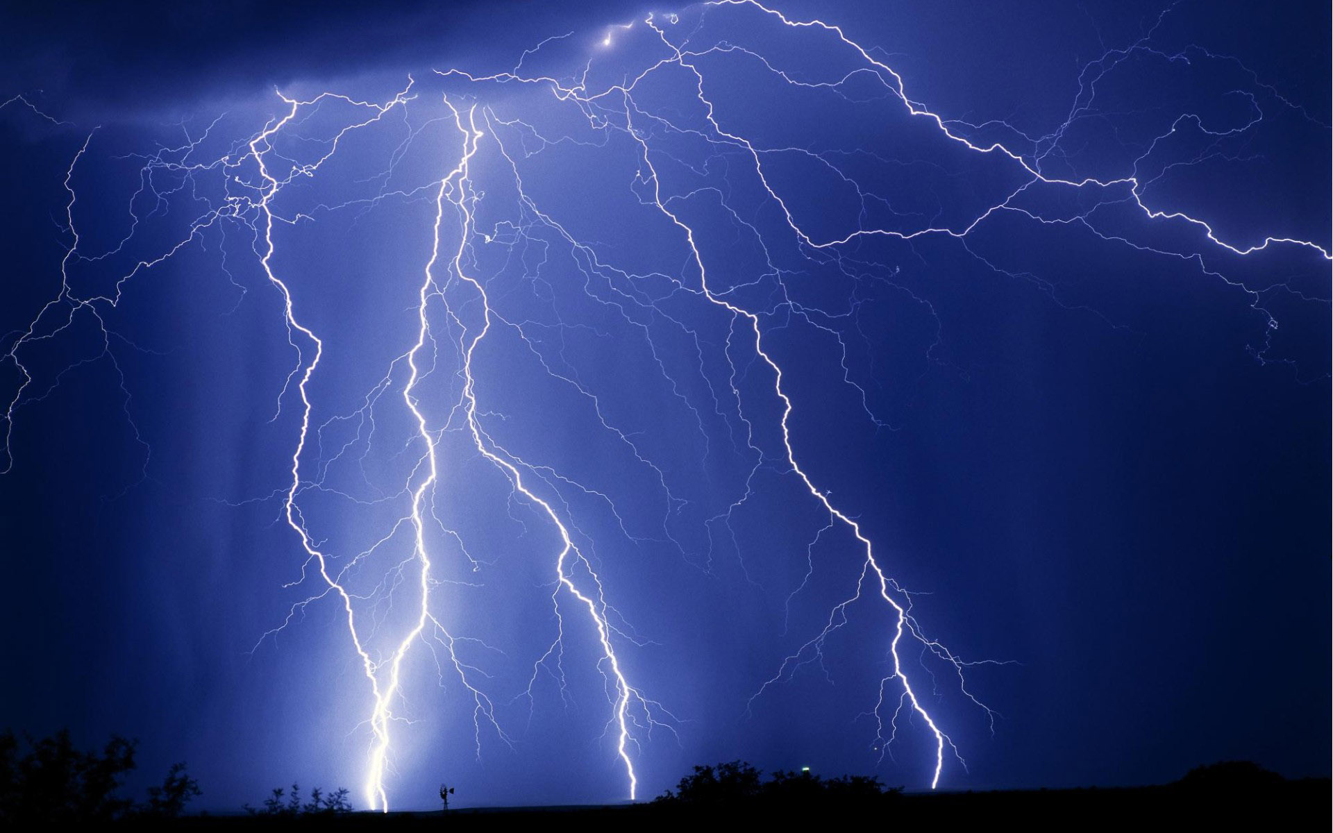 Blue Lightning Background wallpaper - 105330