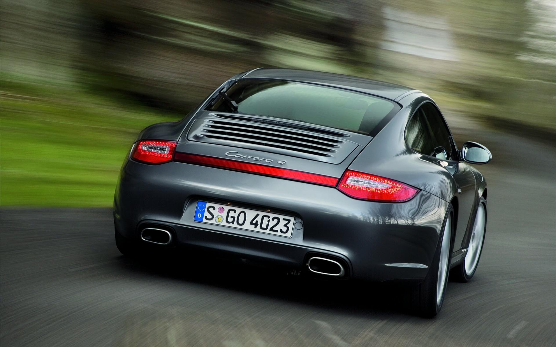 Porsche 911 Carrera 4 From Back