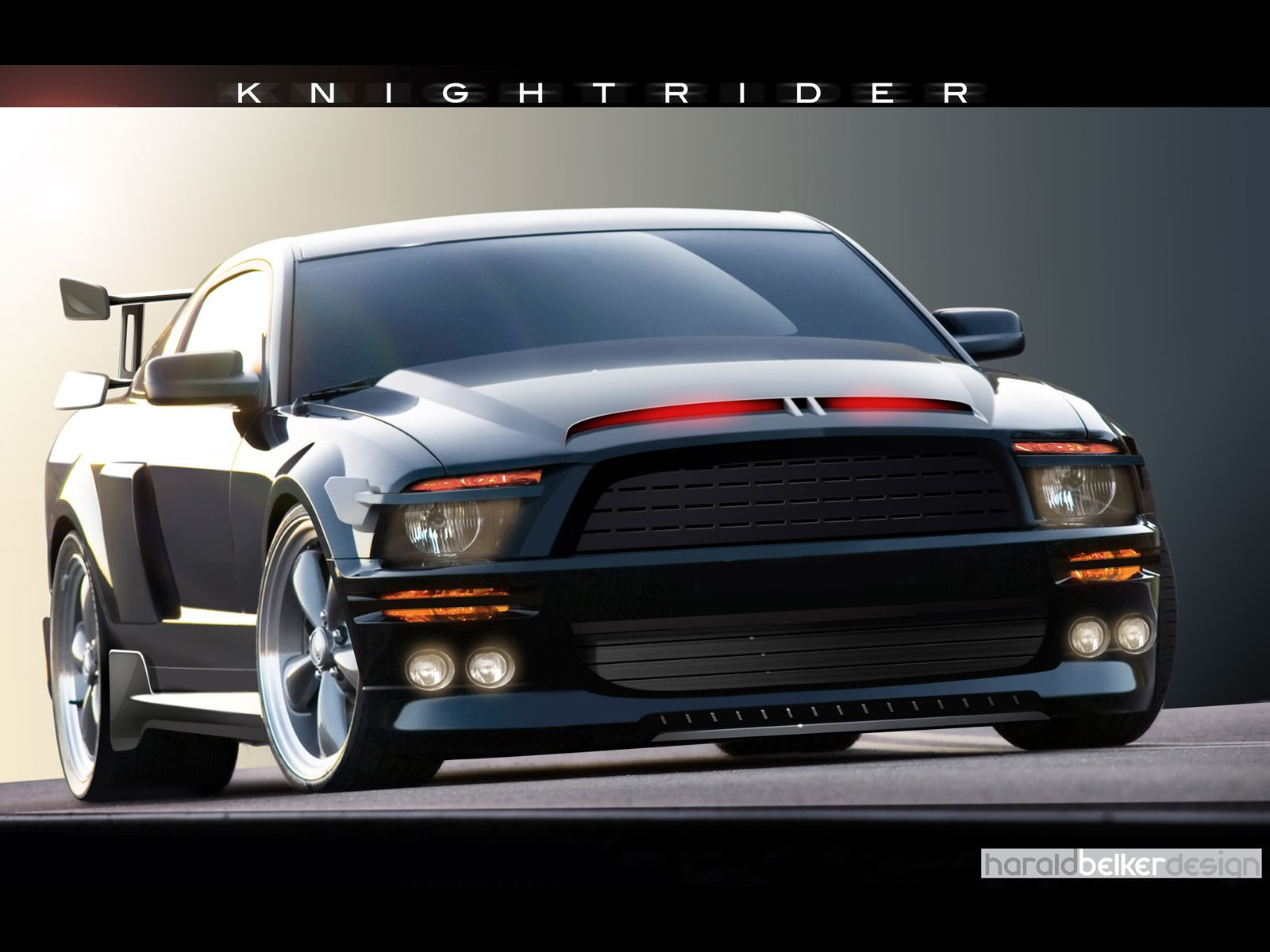 knight rider shelby mustang 500 gtr 02 Mustang gtr wallpaper