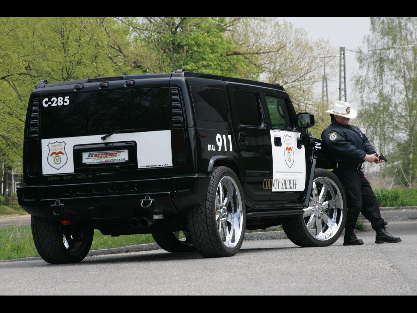 police hummer car 04