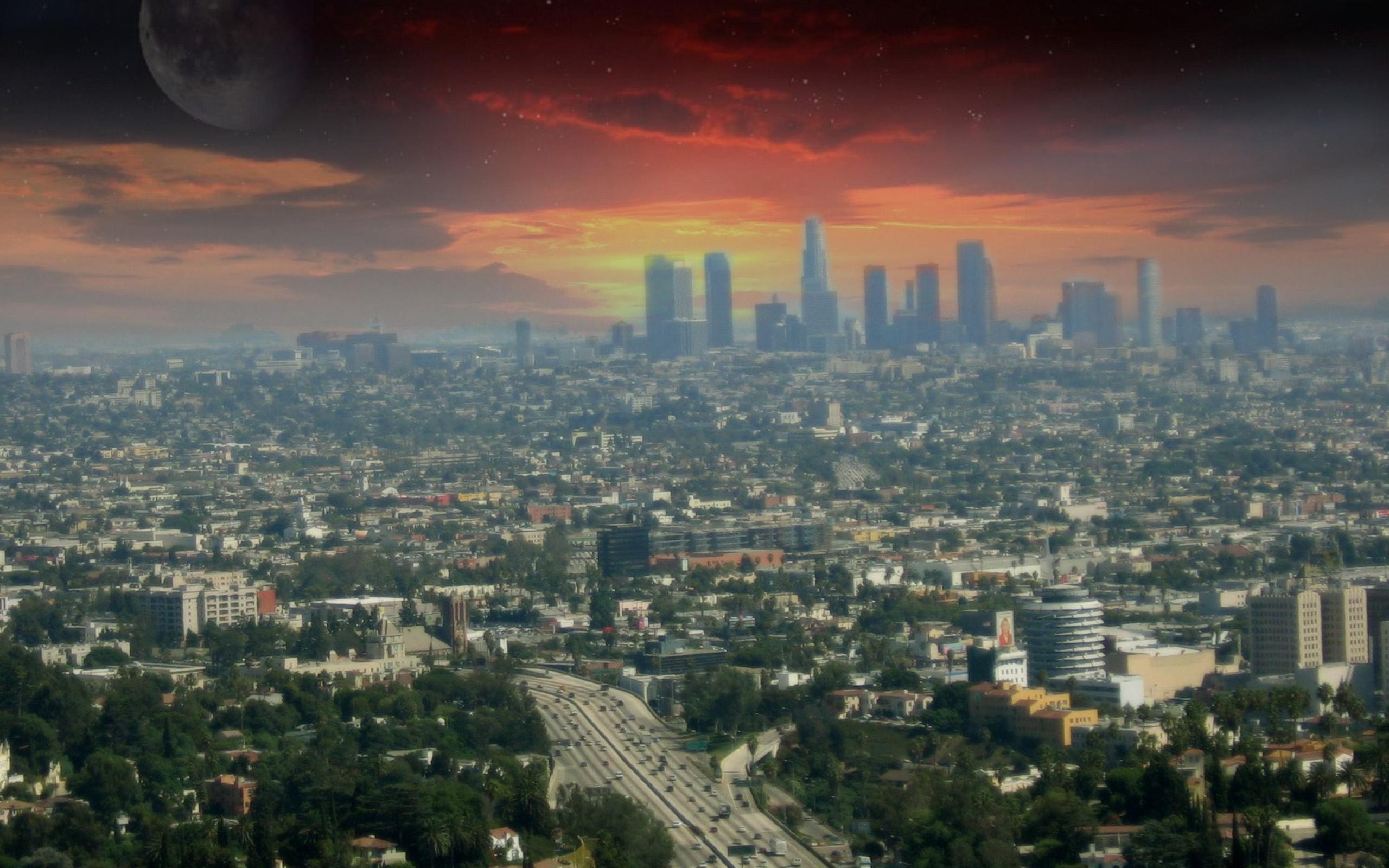 pics photos los angeles skyline vector hd desktop wallpaper