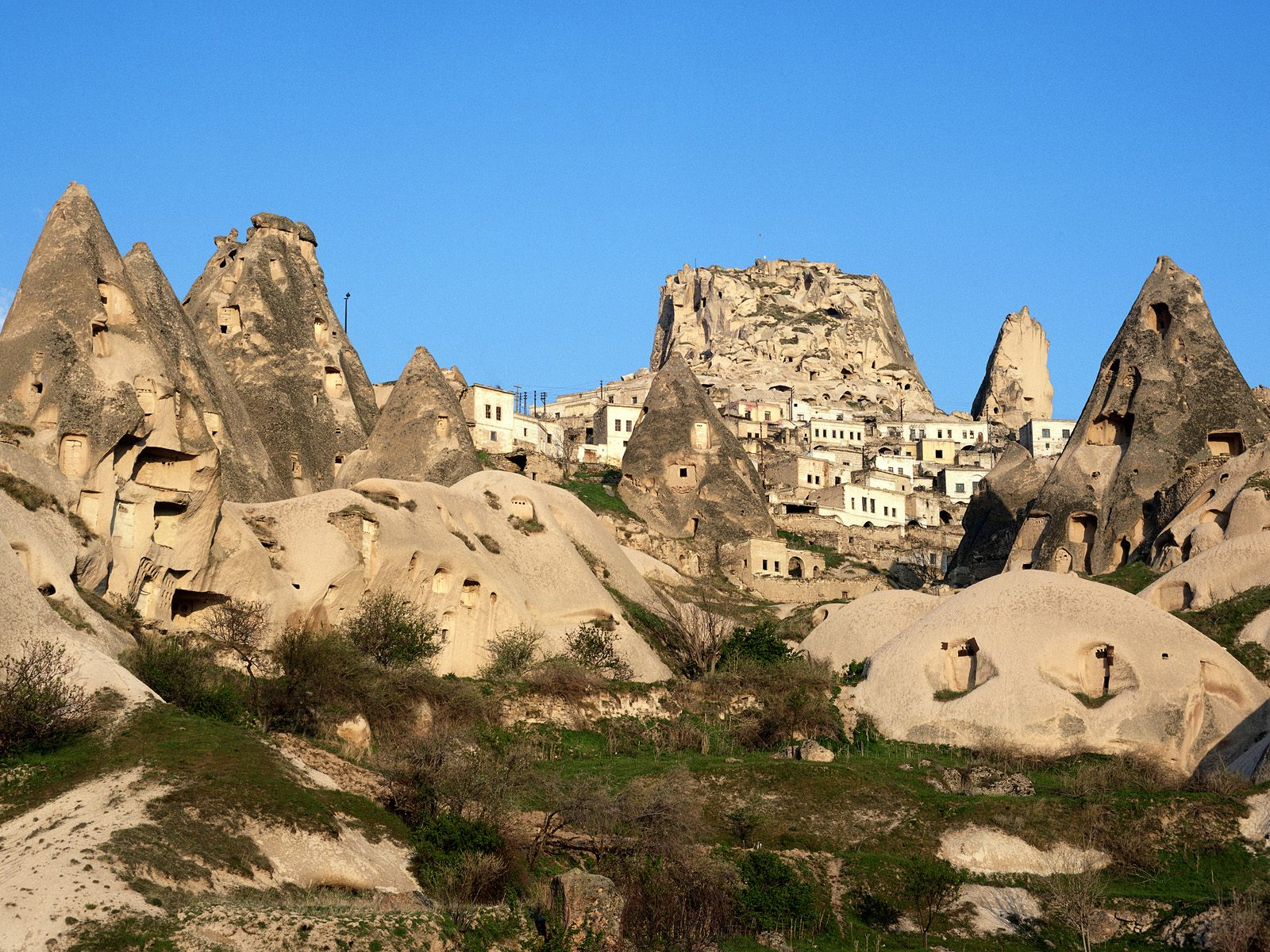 Uchisar Area, Cappadocia, Turkey  № 1427653  скачать