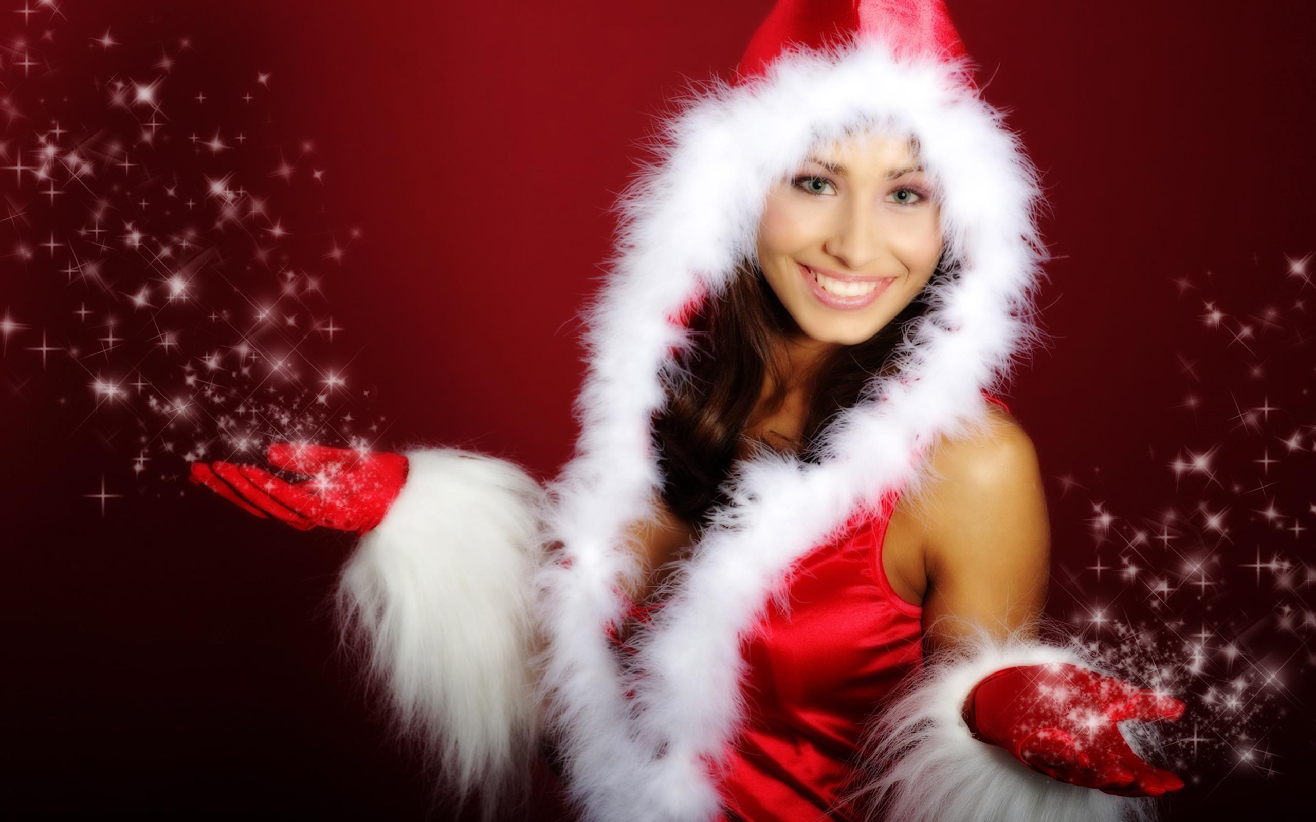 Christmas Babes.Christmas Santa Babes Wallpapers