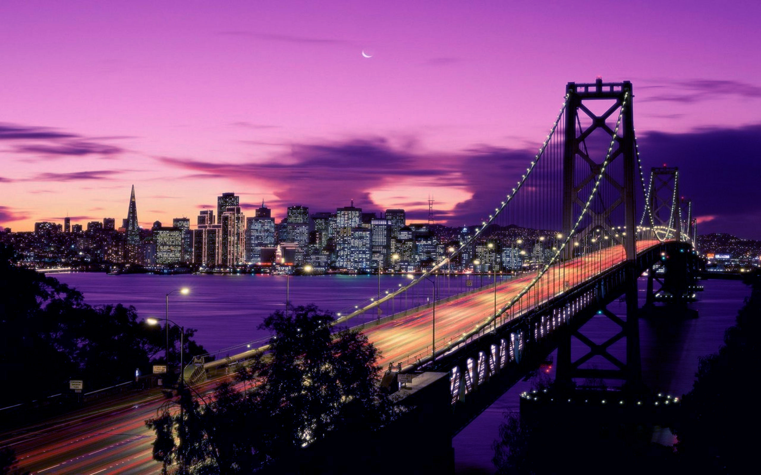 Bay bridge free desktop wallpapers for widescreen hd and mobile wallpaper voltagebd Choice Image