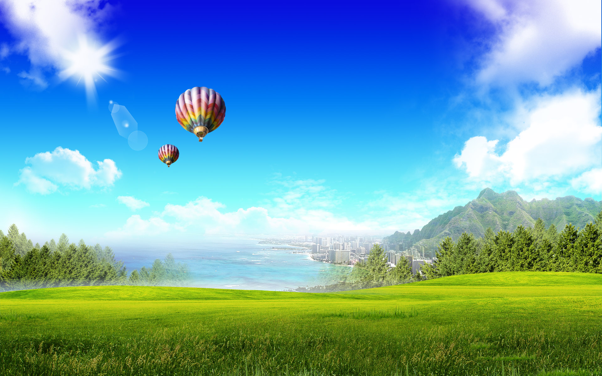 summer landscape image wallpaper - photo #33
