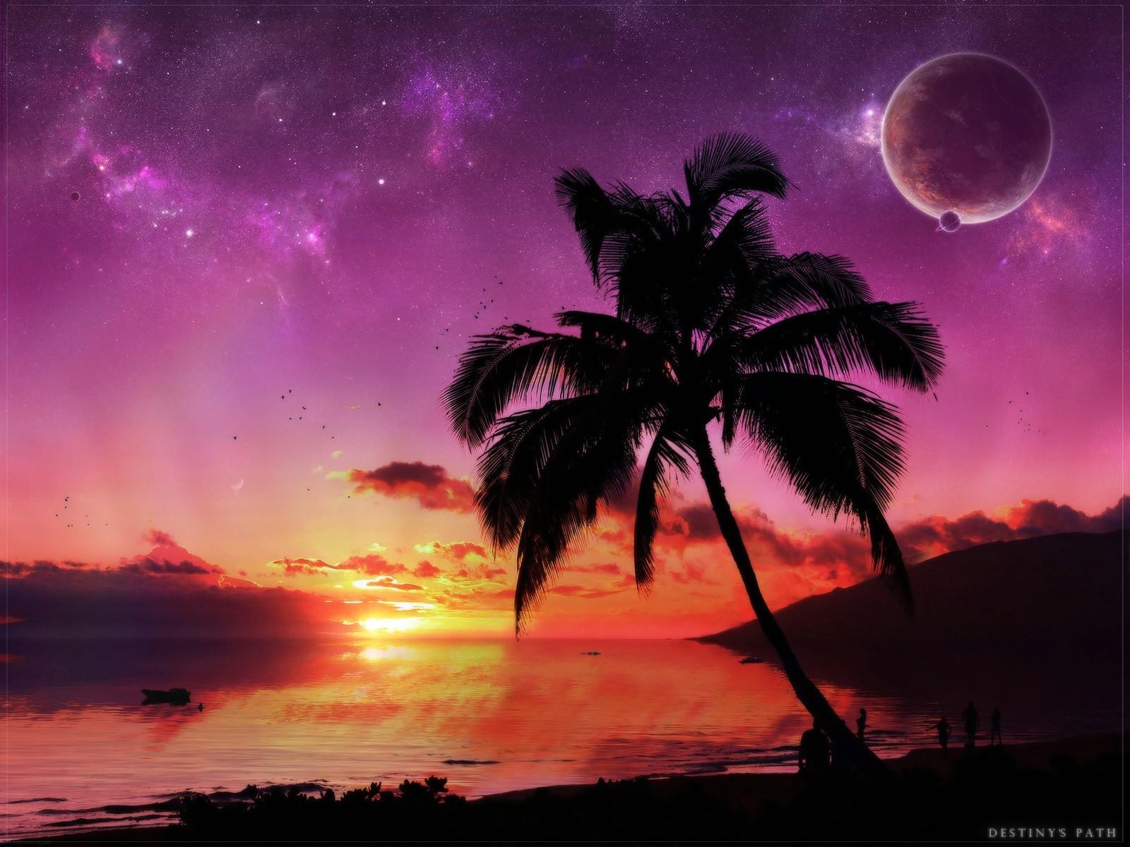 Beautiful sunset beach photo wallpapers