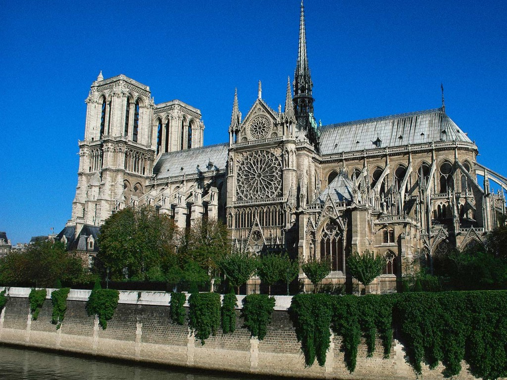 Notre dame paris france wallpaper