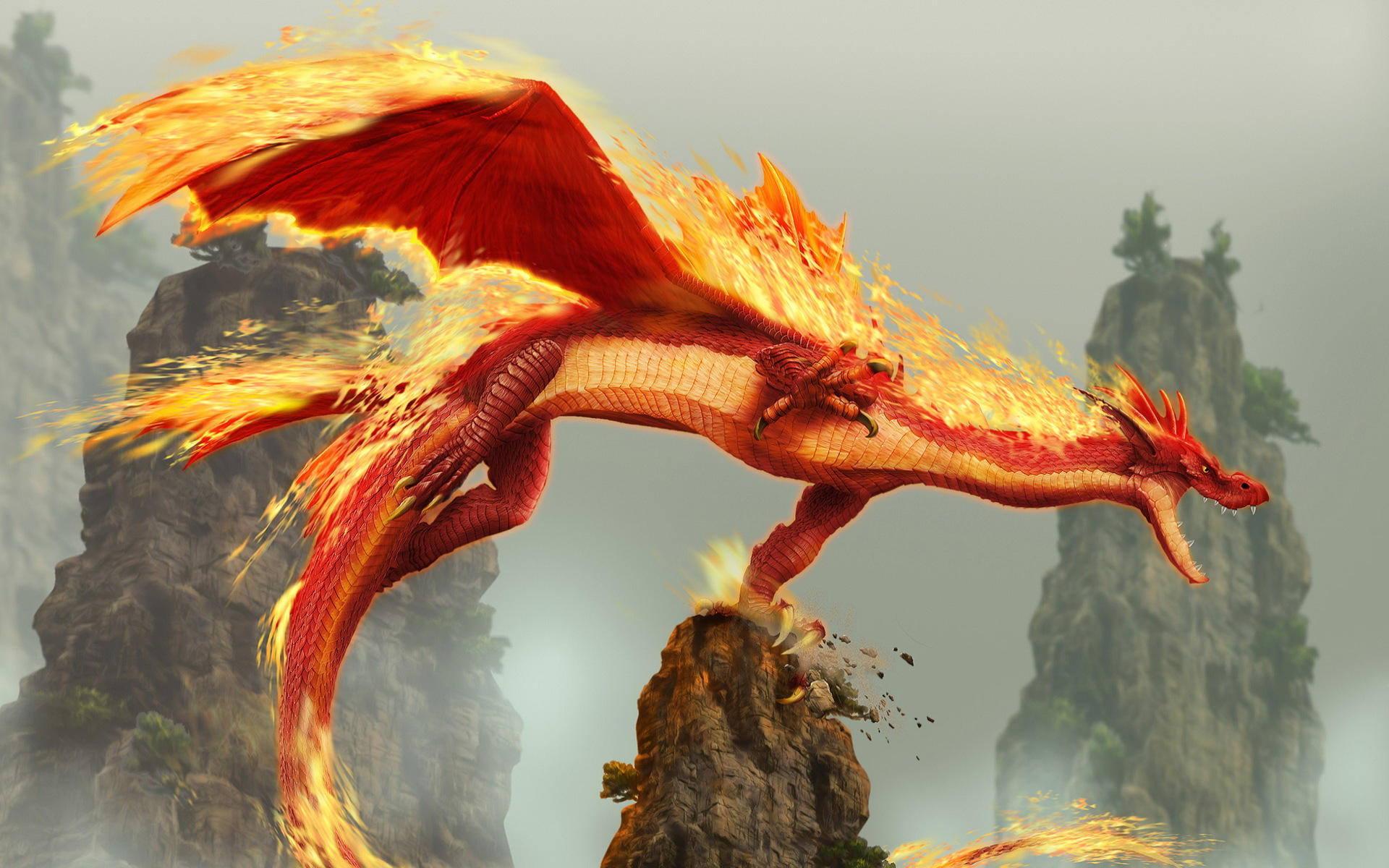 orange glow dragons wallpaper - photo #33