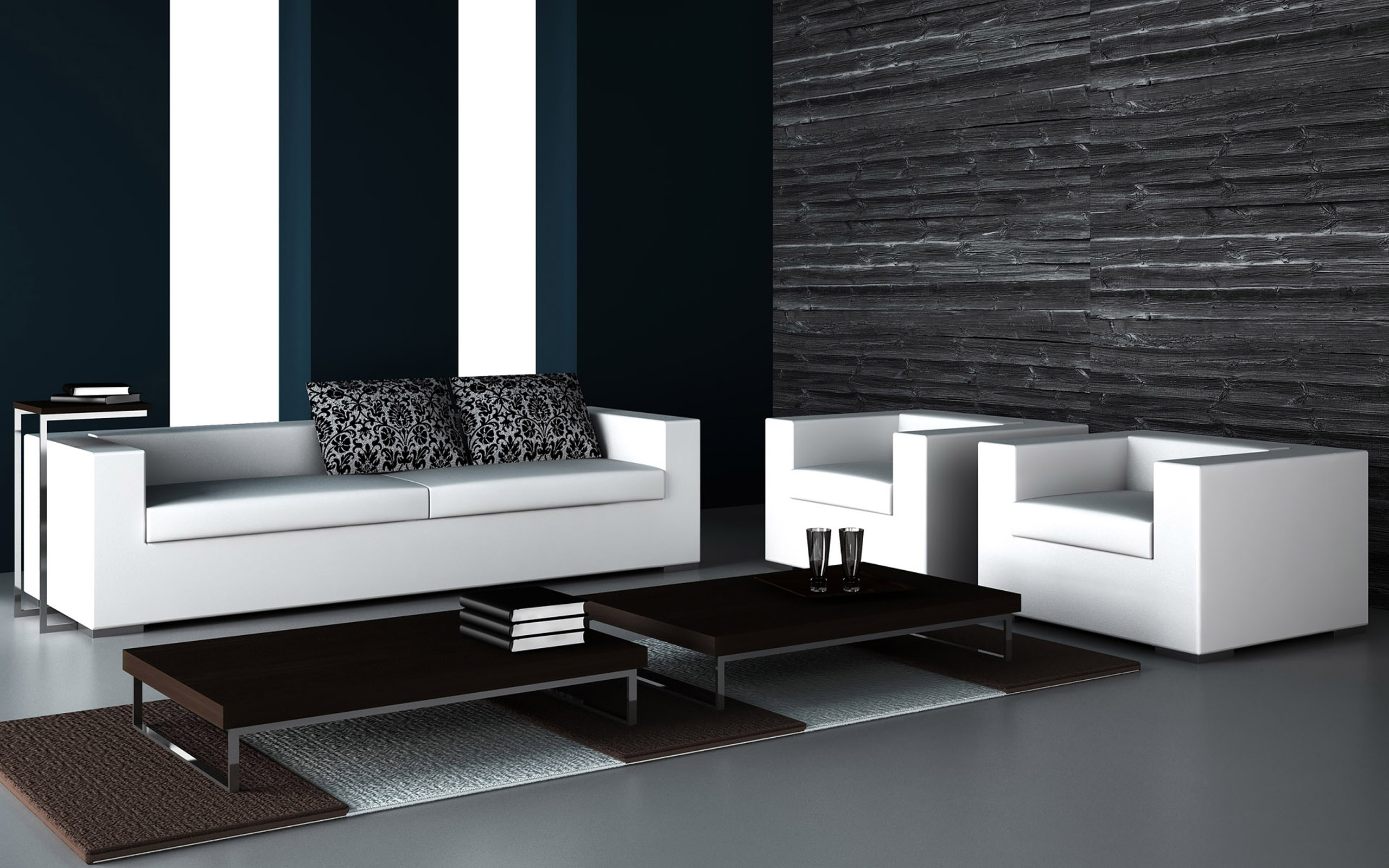 Black and white living room tasteful tv stands and unit designs for your modern living room by