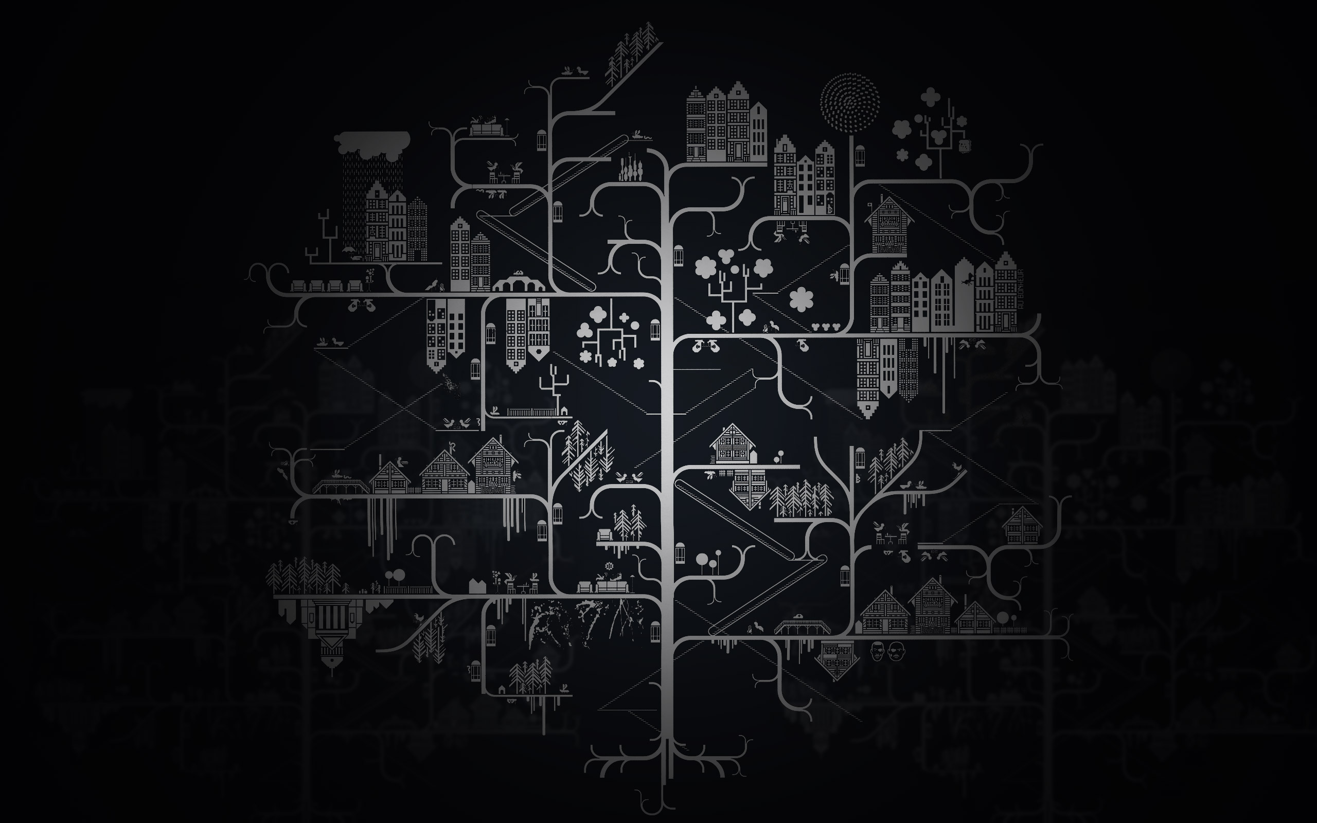 Computer circuit wallpaper