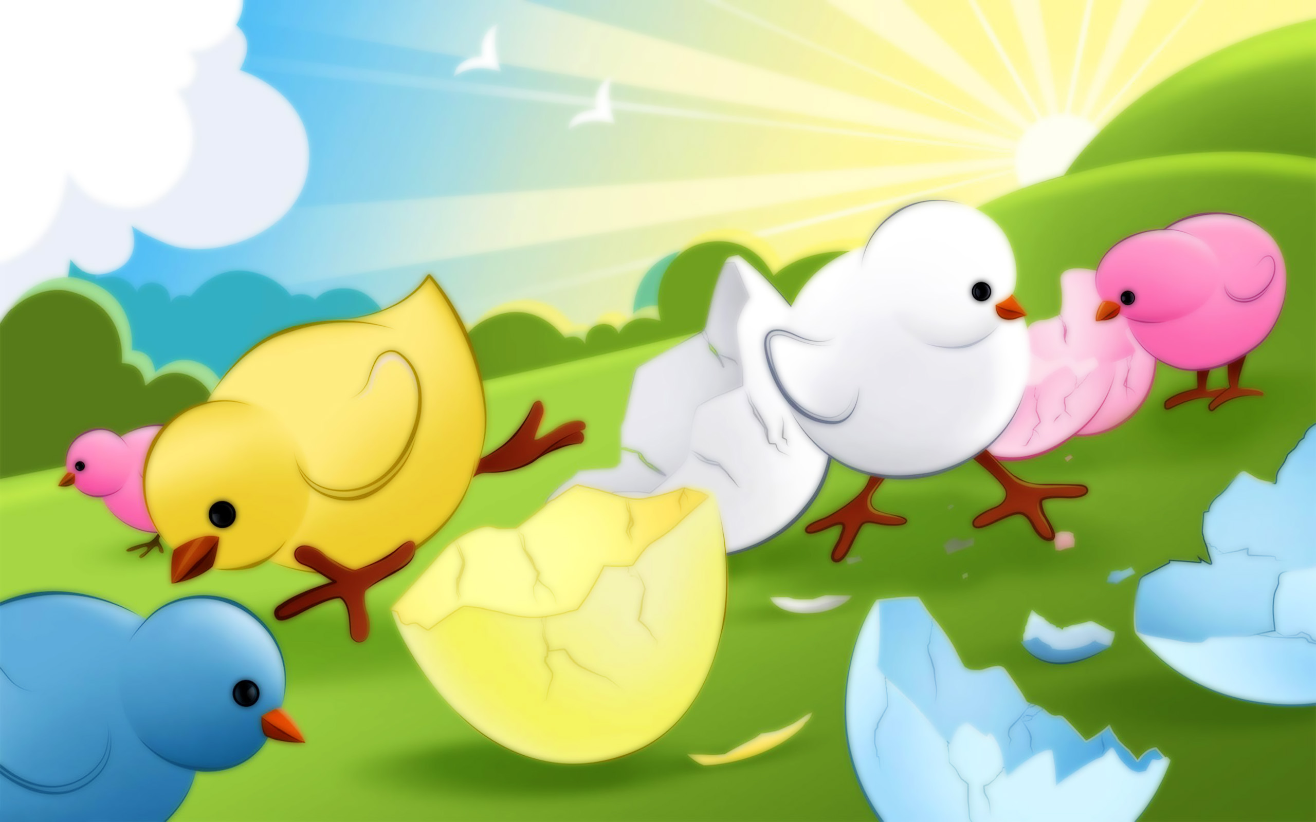 Cute Chickens Easter
