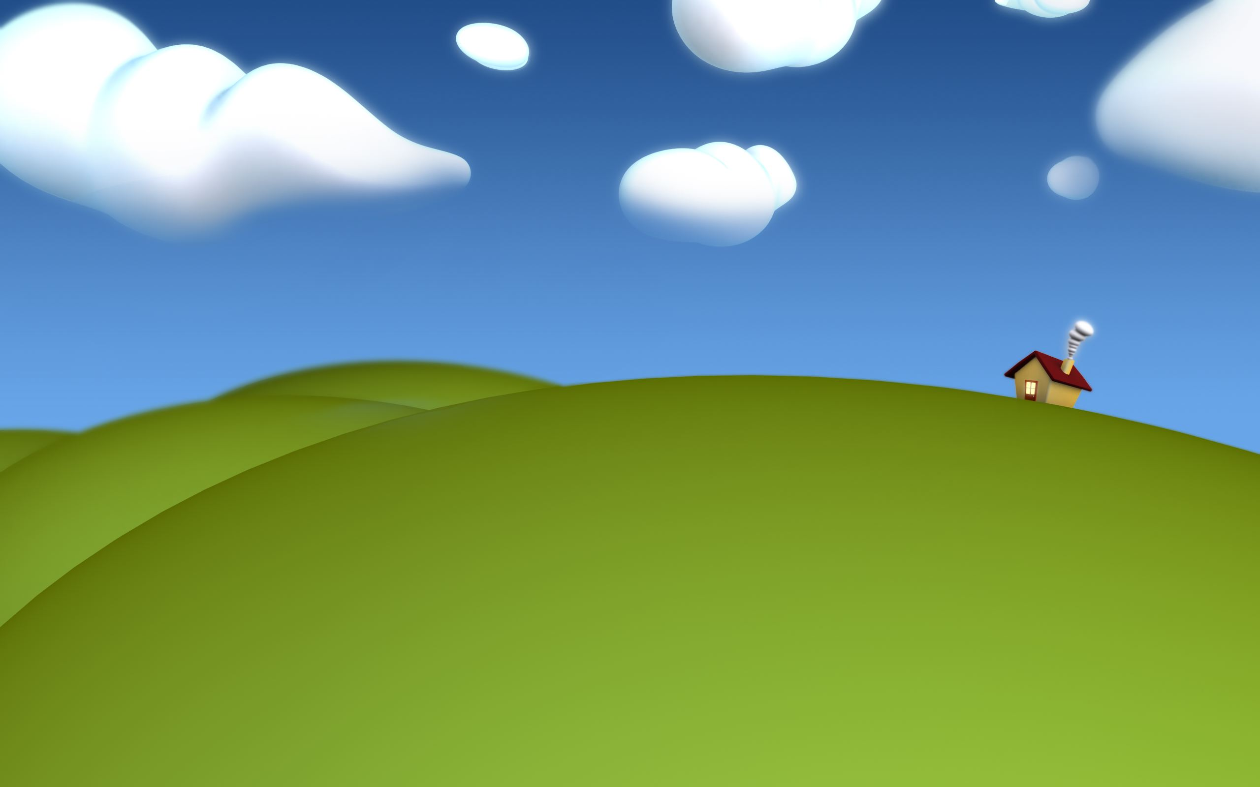 Cartoon hills background