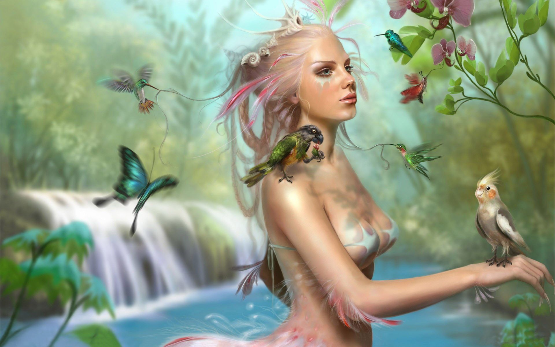 Fantasy girl free desktop wallpapers for widescreen hd and mobile wallpaper voltagebd Images