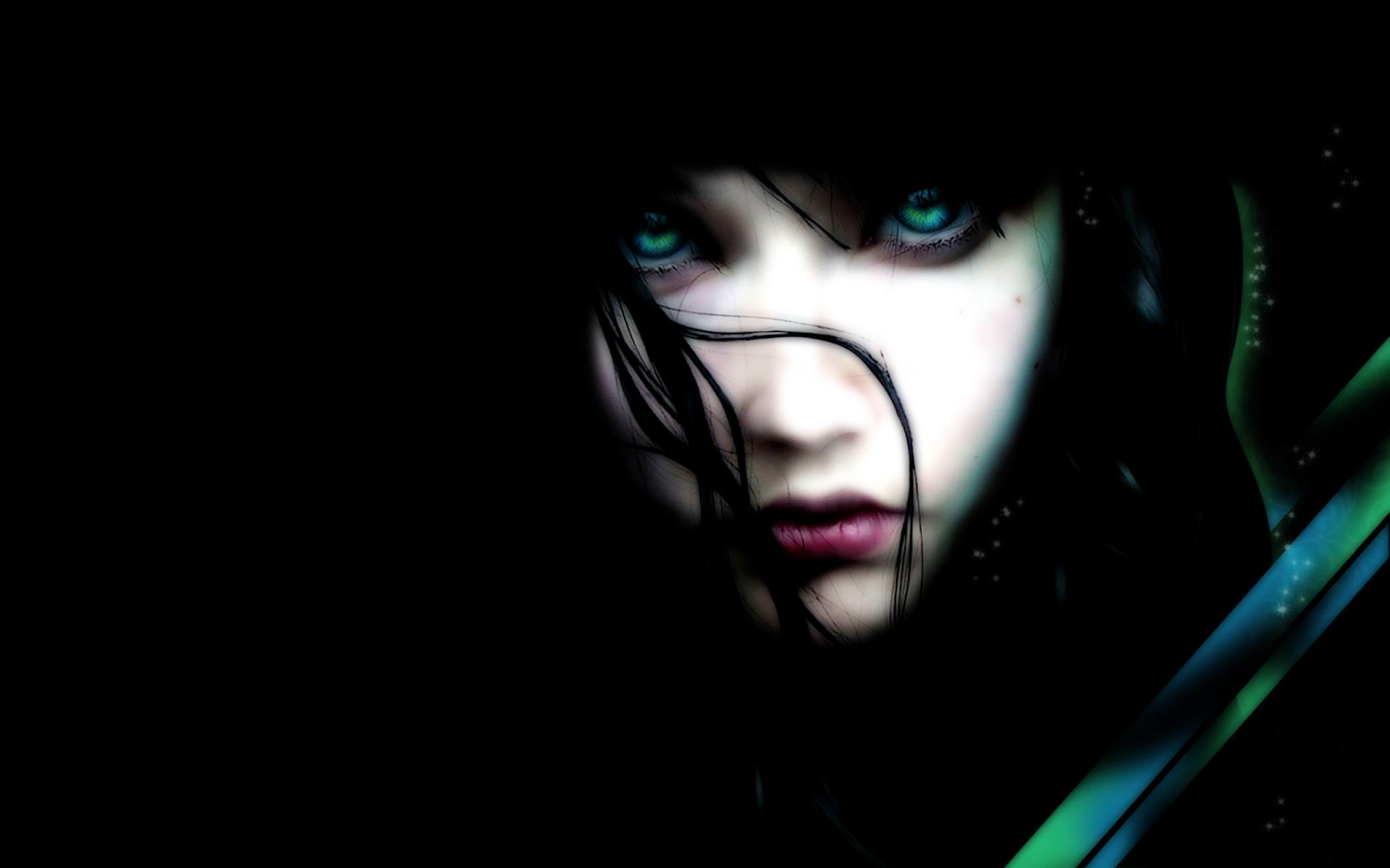 girl on dark wallpaper - photo #18