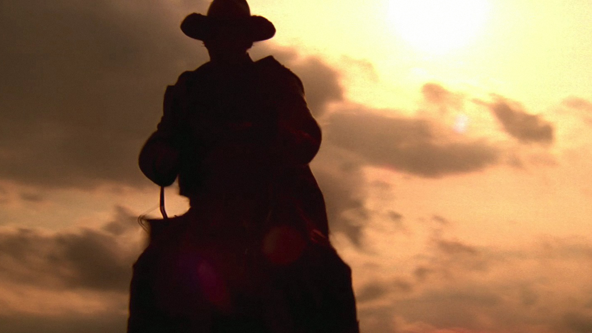 cowboy at sunset hd wallpaper western wallpapers pictures