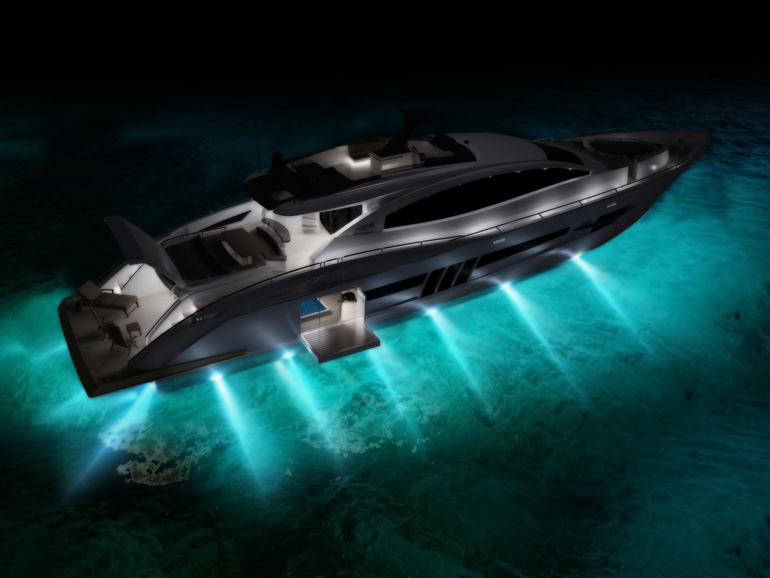 lazzara yachts lsx ninety two night