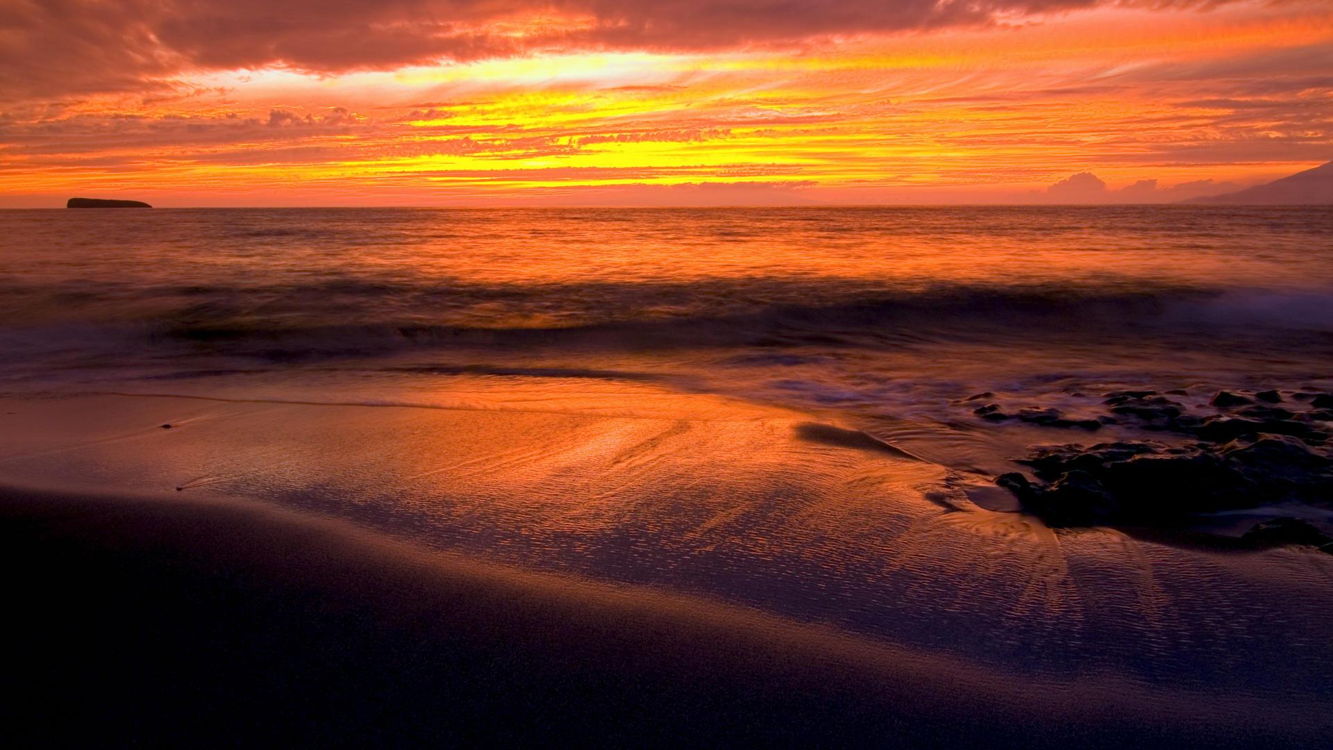 Sunset Beach | Free Desktop Wallpapers for Widescreen, HD ...
