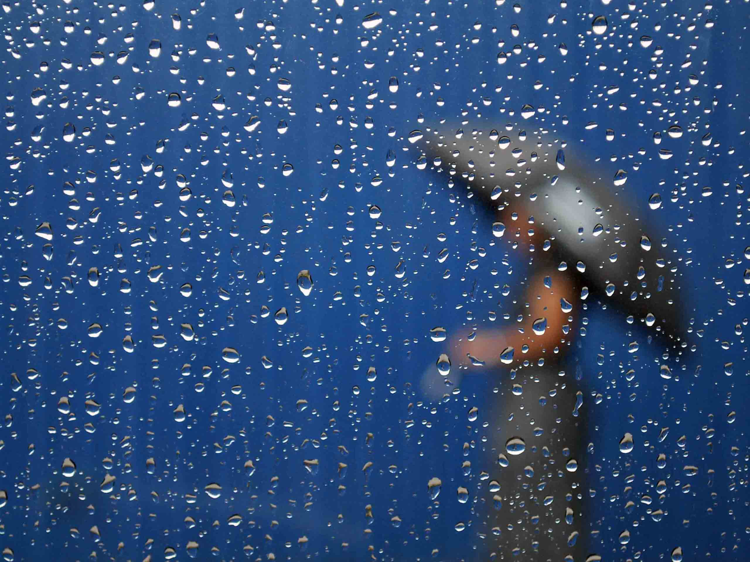 Woman Shadow In The Rain