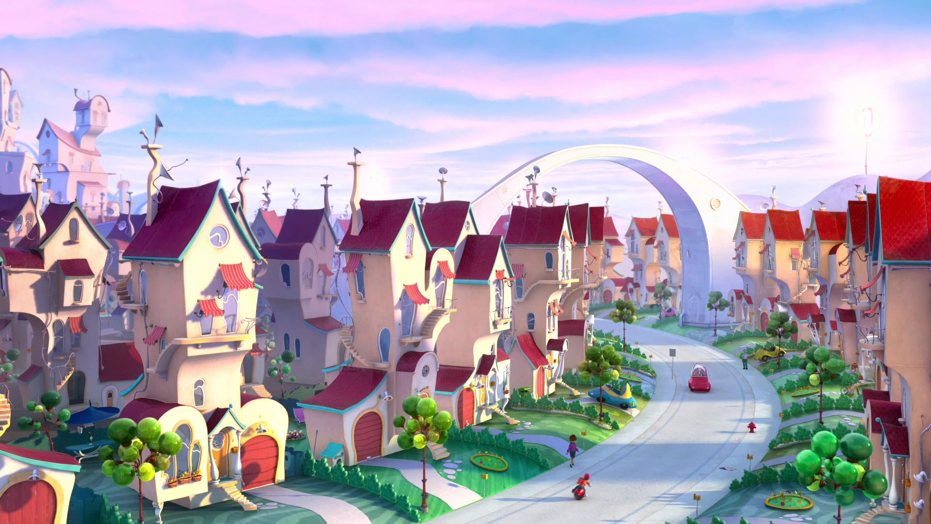 Animated Movie Houses