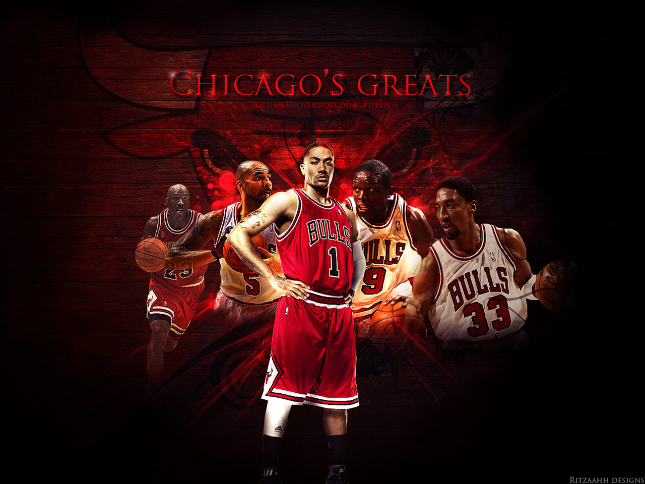 Chicago bulls greats wallpaper free desktop wallpapers for chicago bulls greats wallpaper voltagebd Image collections