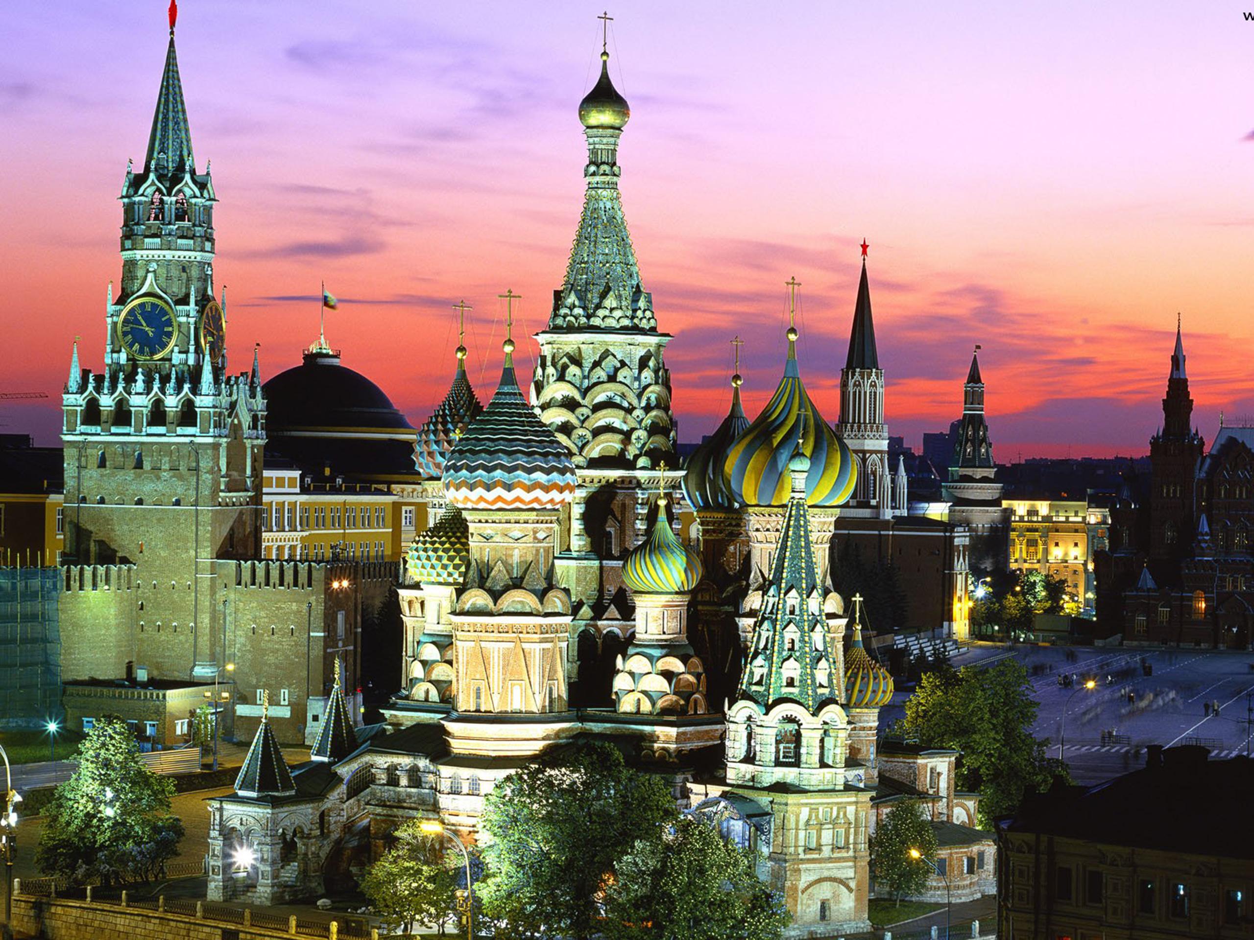 Фонтан Donnerbrunnen, Вена, Австрия. Вид на Кремль Москва.