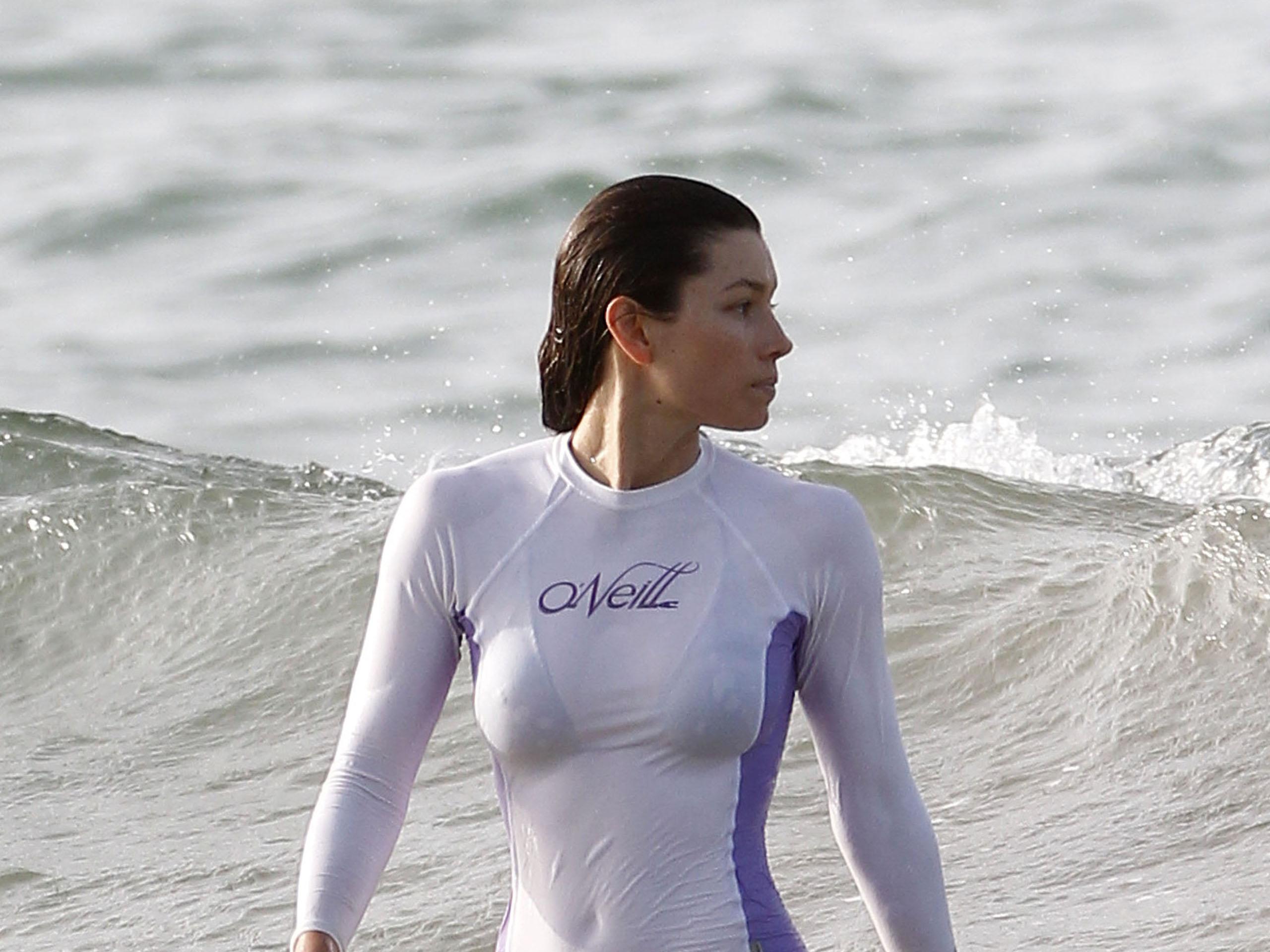 Jessica Biel Bikini Beach Vacation Candids In Puerto Rico