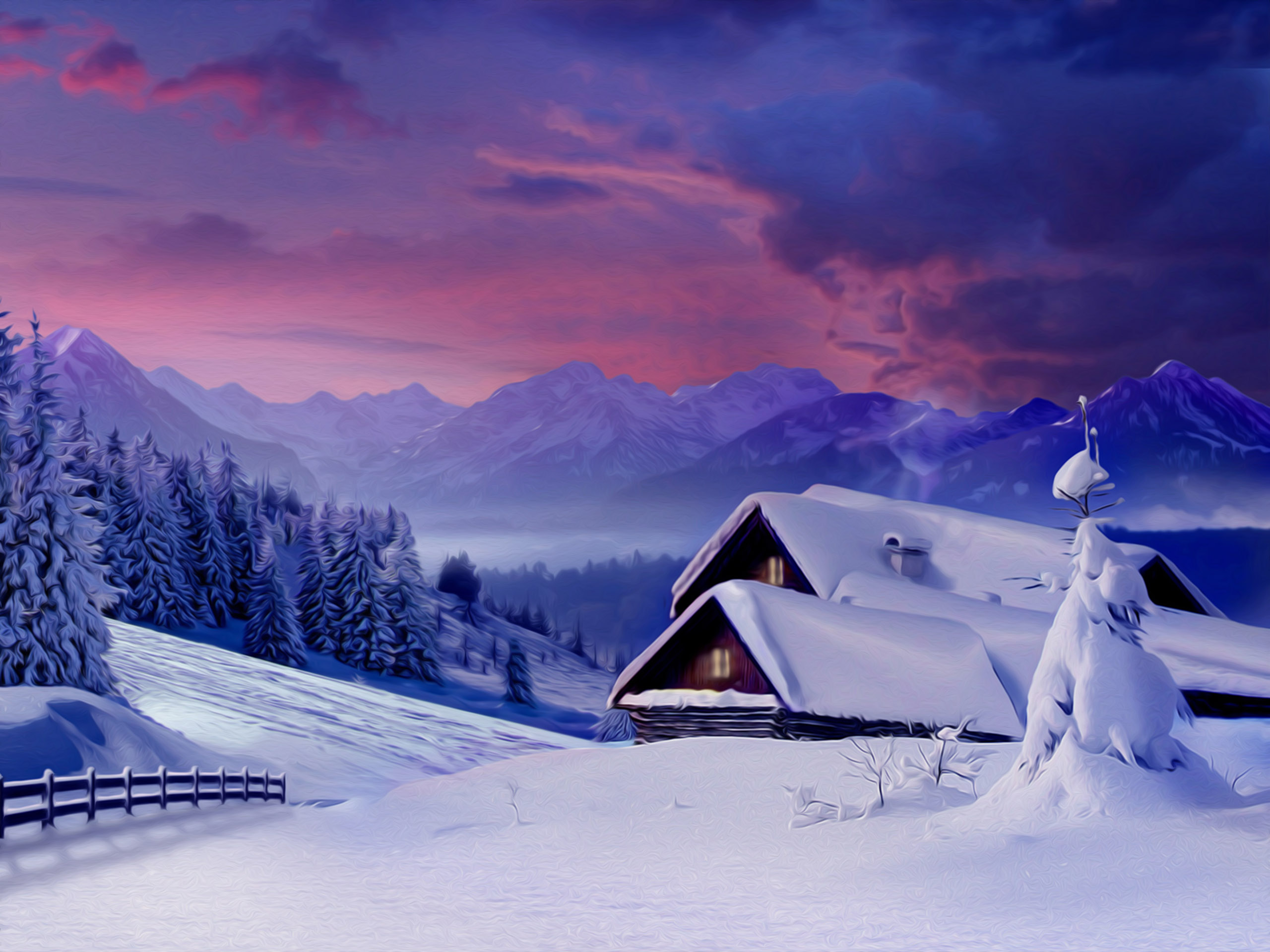 winter nature snow scene free desktop wallpapers for