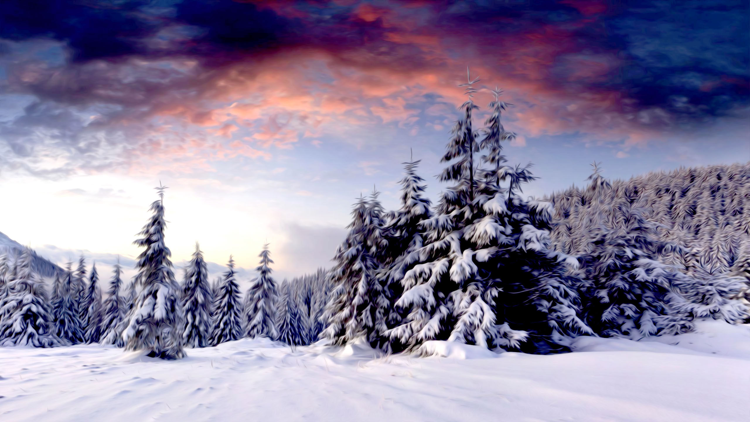 snow scenery full hd - photo #23