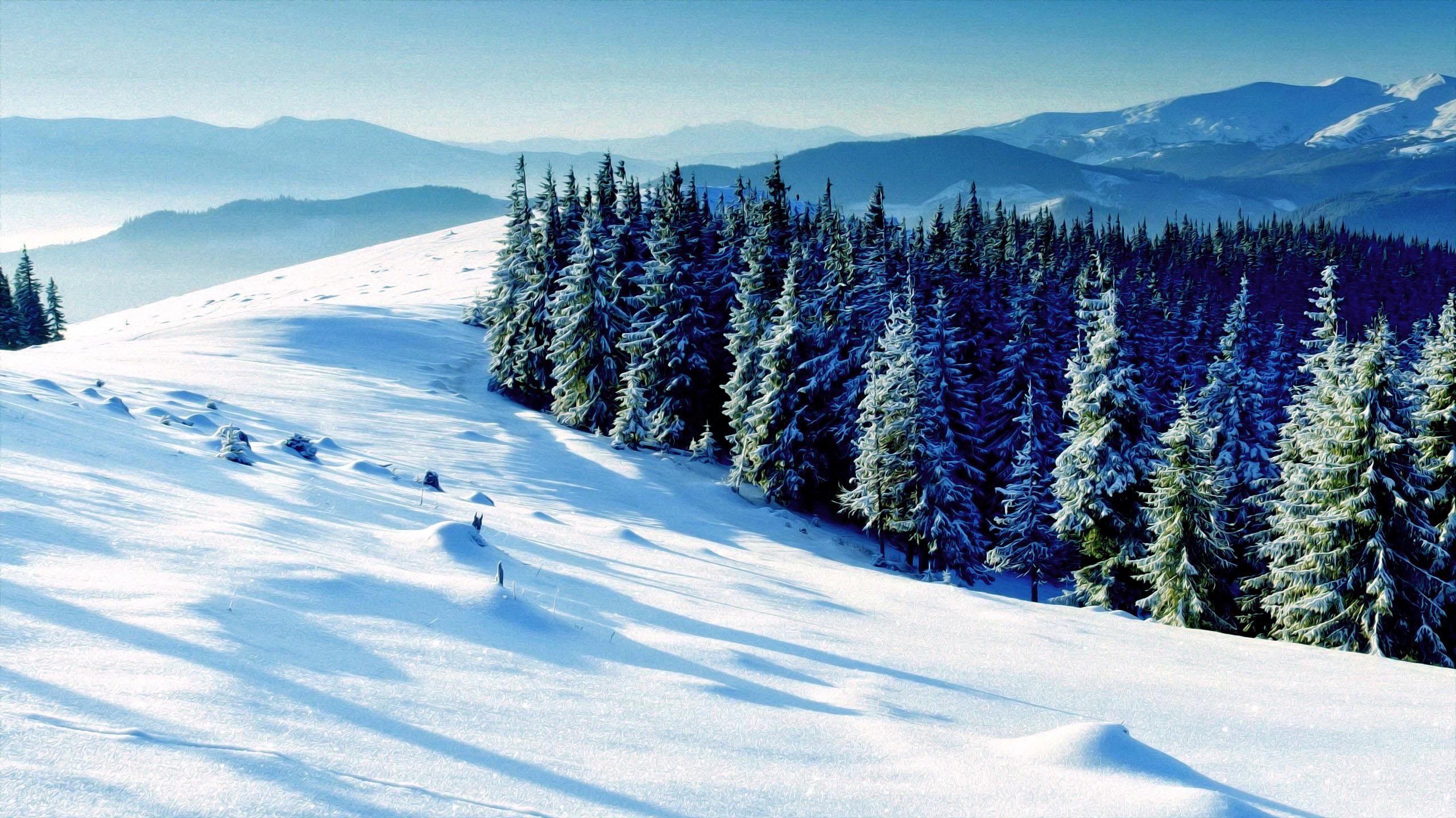 winter scene free desktop wallpapers for widescreen hd